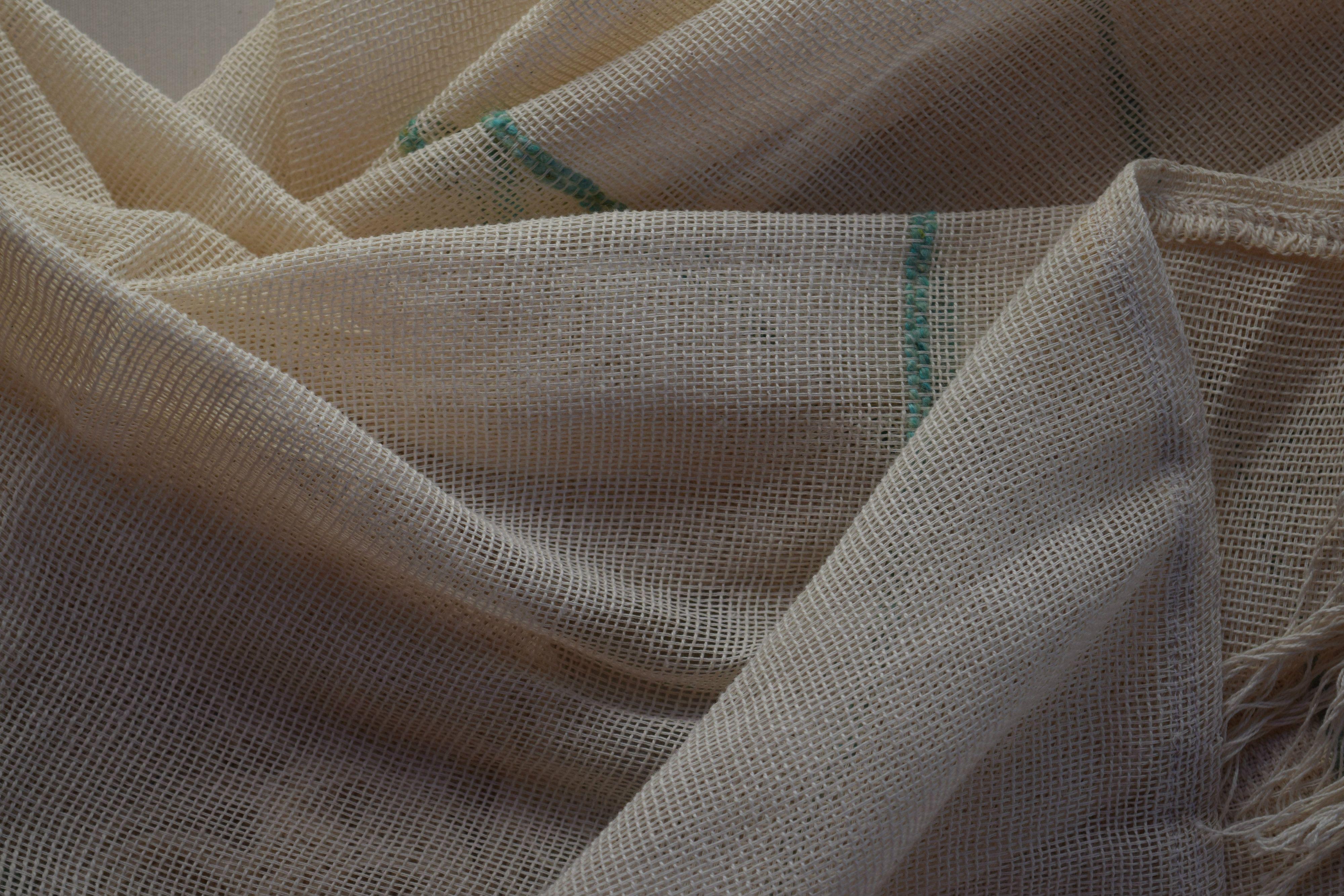 Hilo 100 % algodón tejido en telar