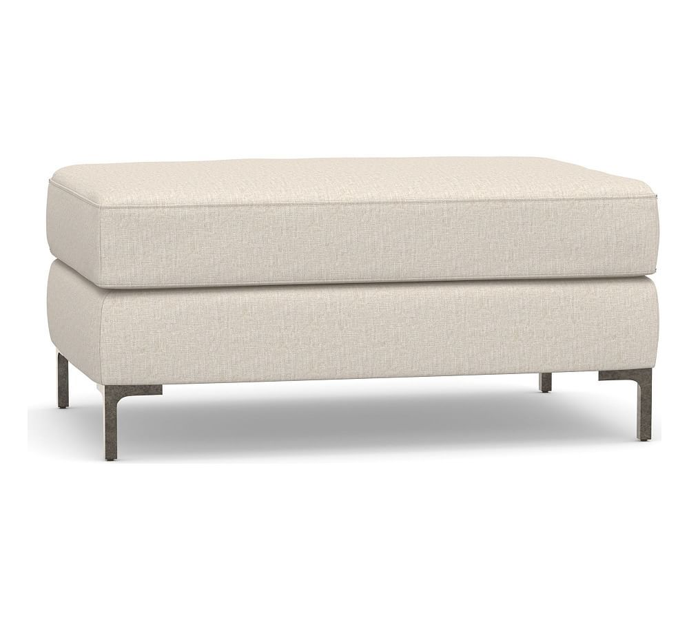 Jake Upholstered Sectional Ottoman With Bronze Legs