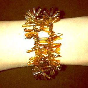 I just discovered this while shopping on Poshmark: 2 Strand Brown Tortoise & Gold Detail Bracelet. Check it out!  Size: OS