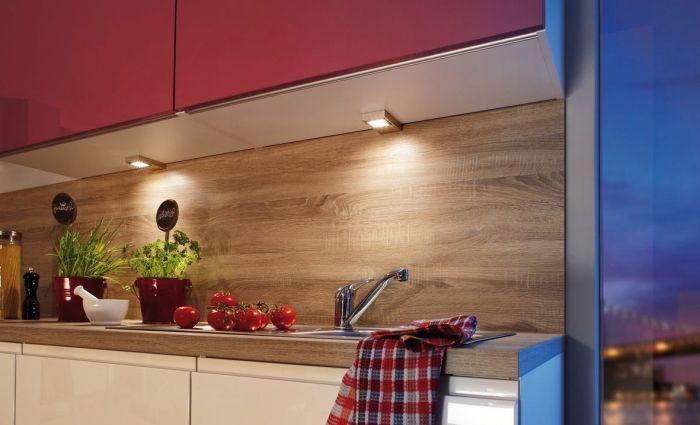 Idée relooking cuisine \u2013 modèle de cuisine bois moderne avec