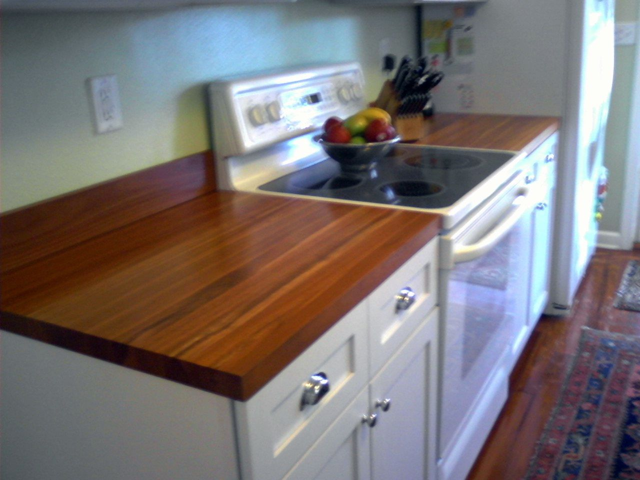 Butcher Block Kitchen Counters And We Can Overlay The Cabinets And