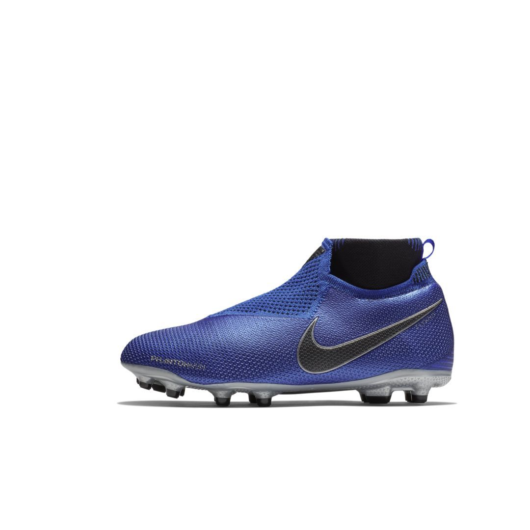 Nike Jr Phantom Vision Elite Dynamic Fit Big Kids Multi Ground Soccer Cleat Size 5y Racer Blue Football Boots Soccer Cleats Kids Football Boots