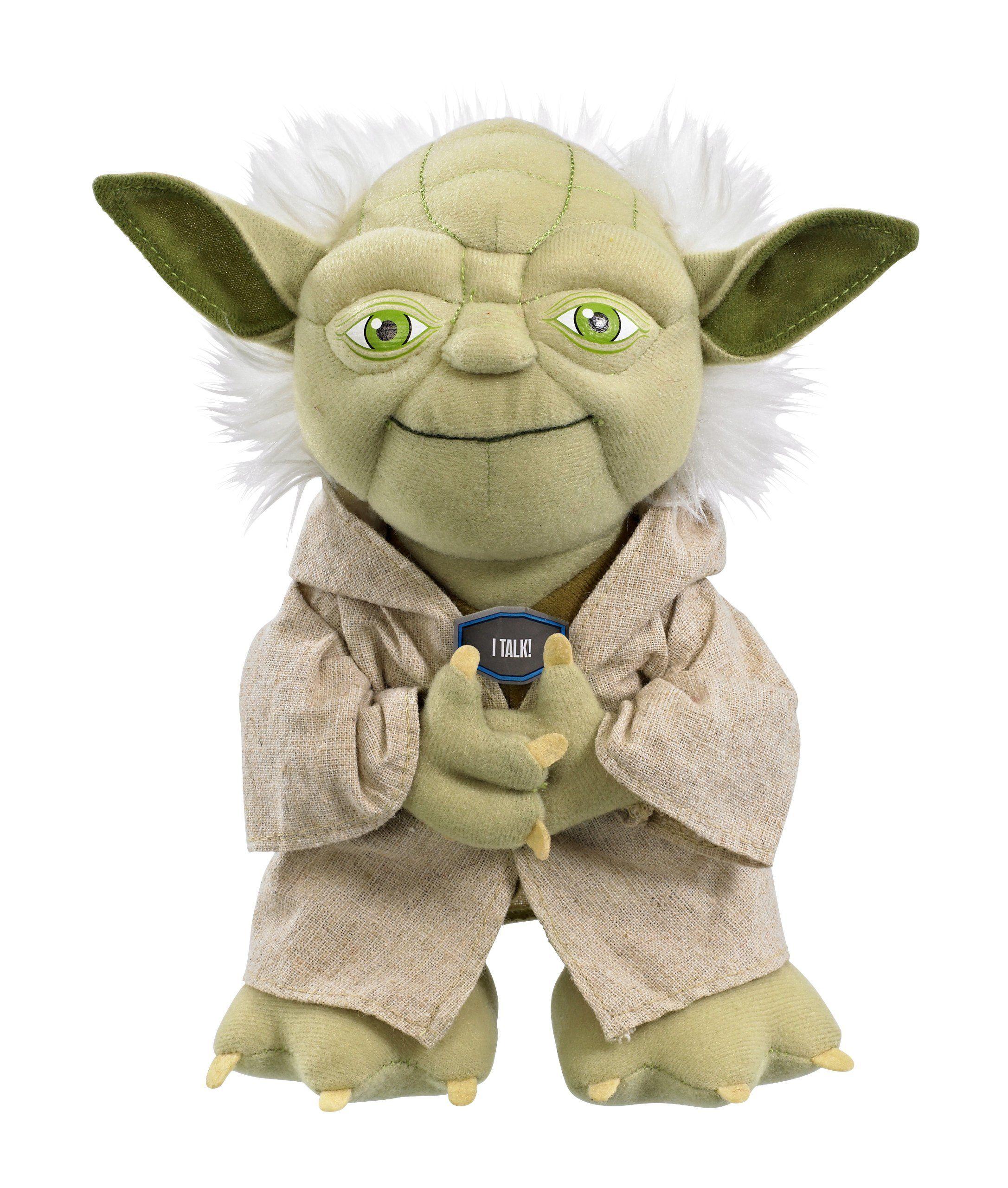 Joy toy star wars 100172 talking yoda plush toy 23 cm in