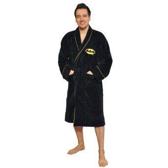 bathrobe Adult size NEW bath robe gifts for men Batman dressing gown FLEECE