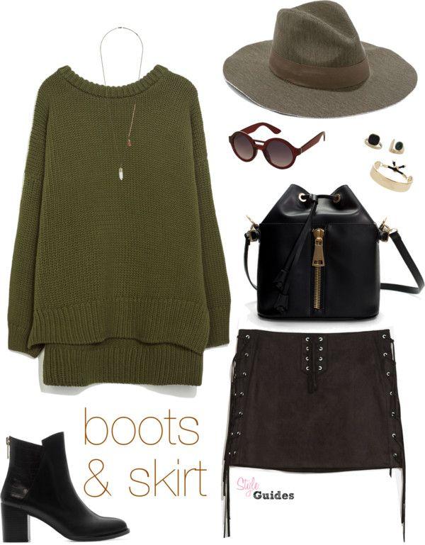 Fringe Skirt & boots