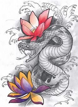 Snake Tattoo Japanese Tumblr Snake Tattoo Snake Tattoo Design Japanese Tattoo