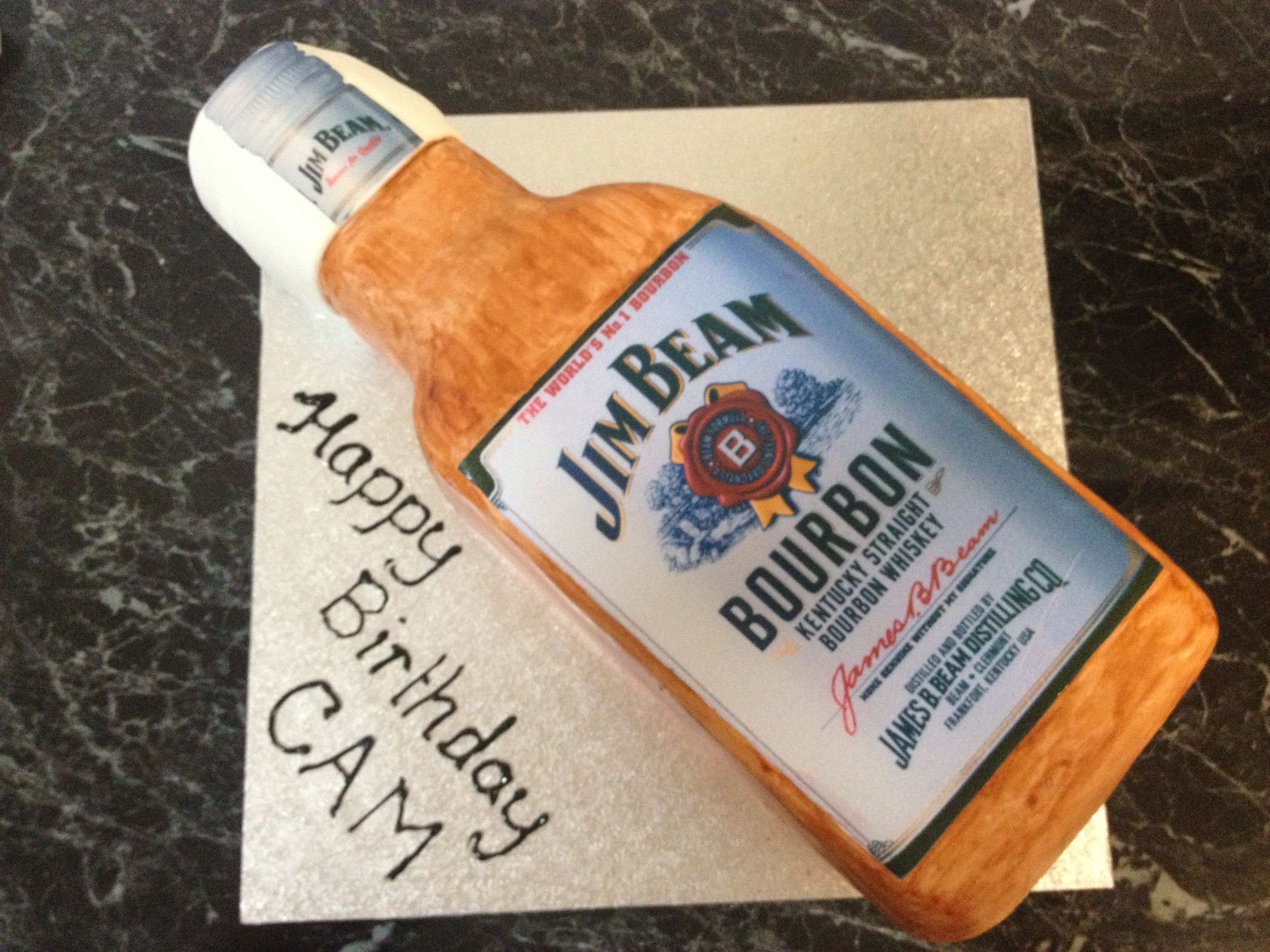 Jim Beam Bottle Cake - Kirsty's Kitchen (With images ...