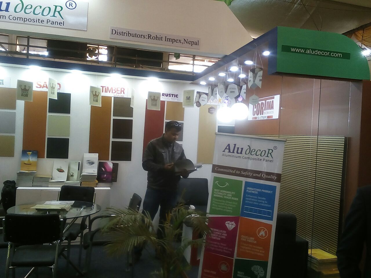 Aludecor Stall at the 3rd #Nepal Buildcon International Expo 2017