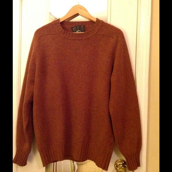 Barbour 100 Shetland Wool Sweater Scotland Made In Scotland