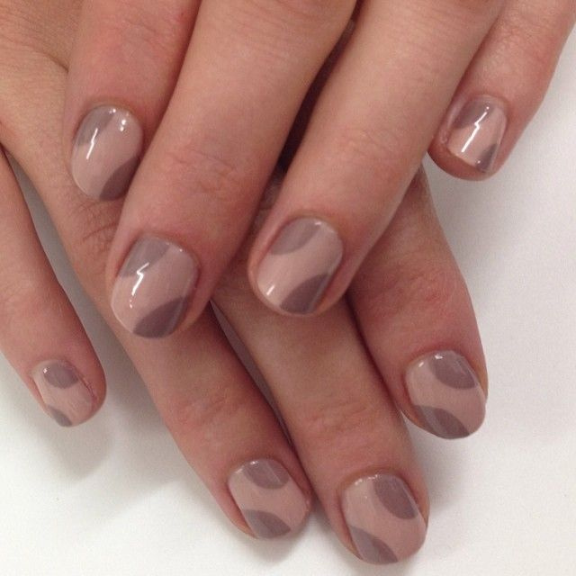 Simple and easy nude on nude nail design that you must try.