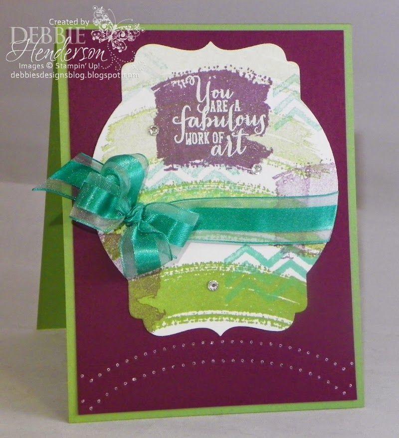 Debbie Henderson: Debbie's Designs: CCMC306! - 6/5/14 (Work of Art stamp set)
