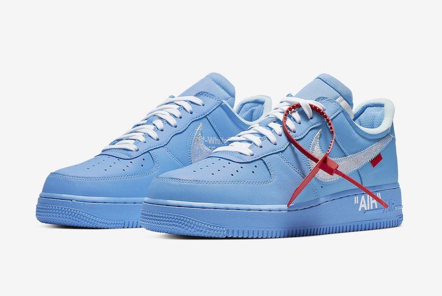 Off White X Nike Air Force 1 Mca Ci1173 400 Release Date Nike Shoes Blue Nike Air Shoes Nike Air Force