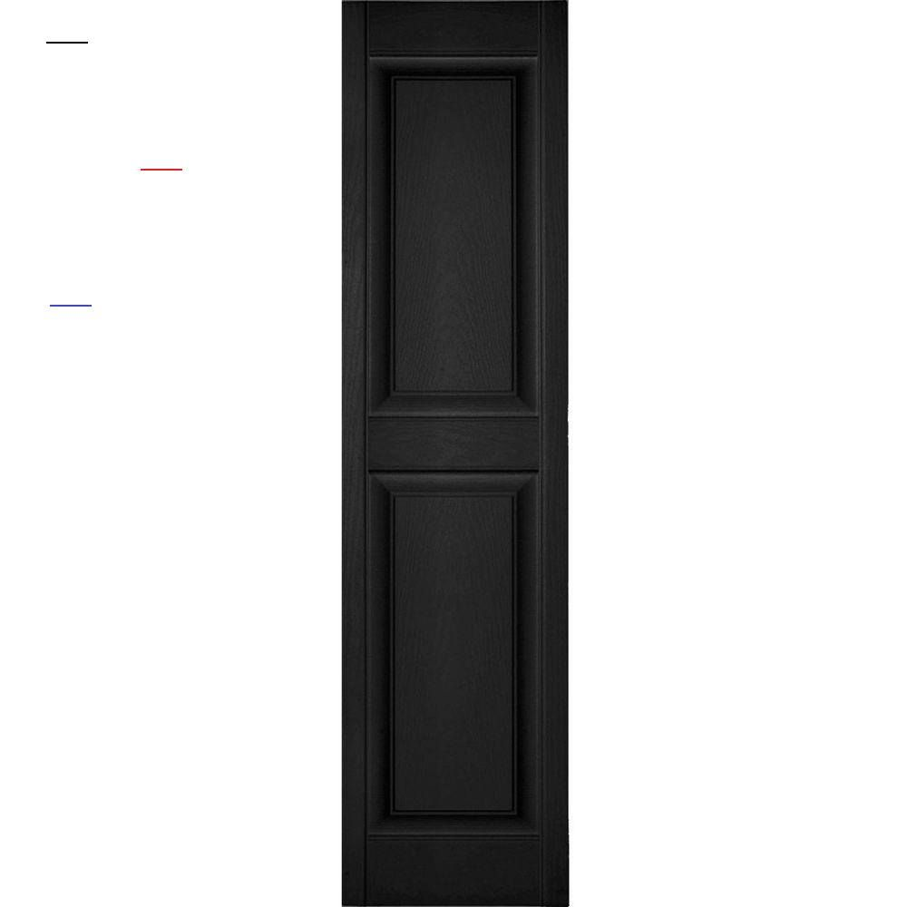 Ekena Millwork 12 In X 50 In Lifetime Vinyl Custom 2 Equal Raised Panel Shutters Pair White Lp2c12x05000wh The Home Depot Exteriorshutters Dress Up You I 2020