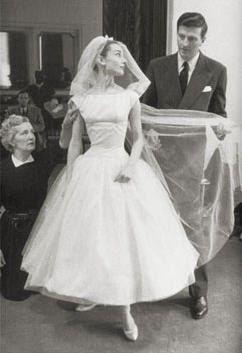 Vintage Cahill Ltd of Beverly Hills Ballerina Length Lace Wedding ...