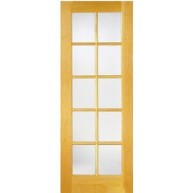 Reliabilt 10 Lite Wood Unfinished Clear Glass Wood Pine Pre Hung Door With Hardware Common 48 In X 80 In Actual 49 625 In X 81 6875 In Lowes Com Pine Interior Doors French Doors Interior Doors Interior