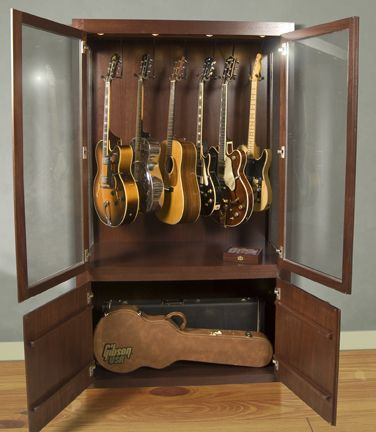 Guitar Case   Drew Covi Covi Thatguy Check This Out. I Think We Could  Re Purpose A Storage Unit Without Too Much Work To Make You A Guitar Display .