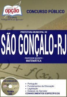 Nova -  Apostila Concurso São Gonçalo RJ - Vários Cargos  #apostilas Saiba como adquirir a sua http://apostilasdacris.com.br/apostila-concurso-sao-goncalo-rj-varios-cargos/