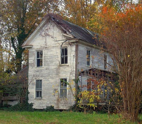 you made me love you    old white farm house   fading beauty