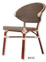 French Bistro Aluminum Rattan Chair $107