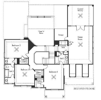 The monet 3833 second floor 4 bedrooms 3 5 bathrooms for Texas floor plans