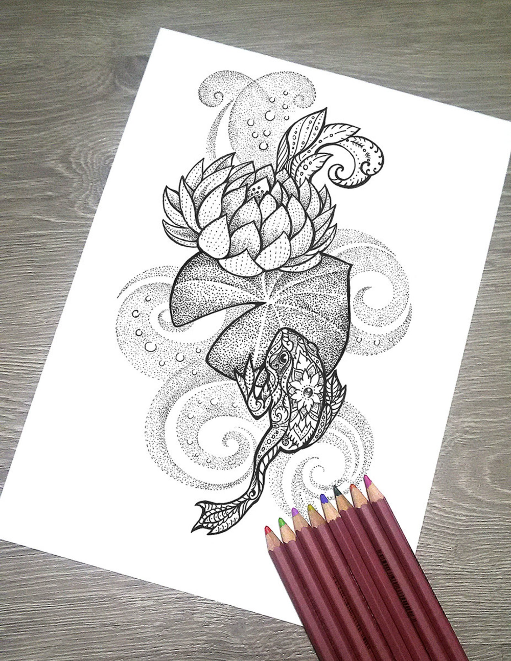 Printable Coloring Page JPG Adult Colouring Page Instant ...