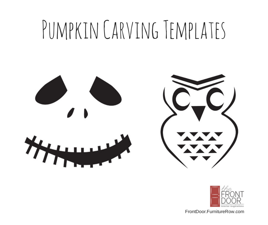Free downloadable #halloween pumpkin carving templates from The Front Door blog.