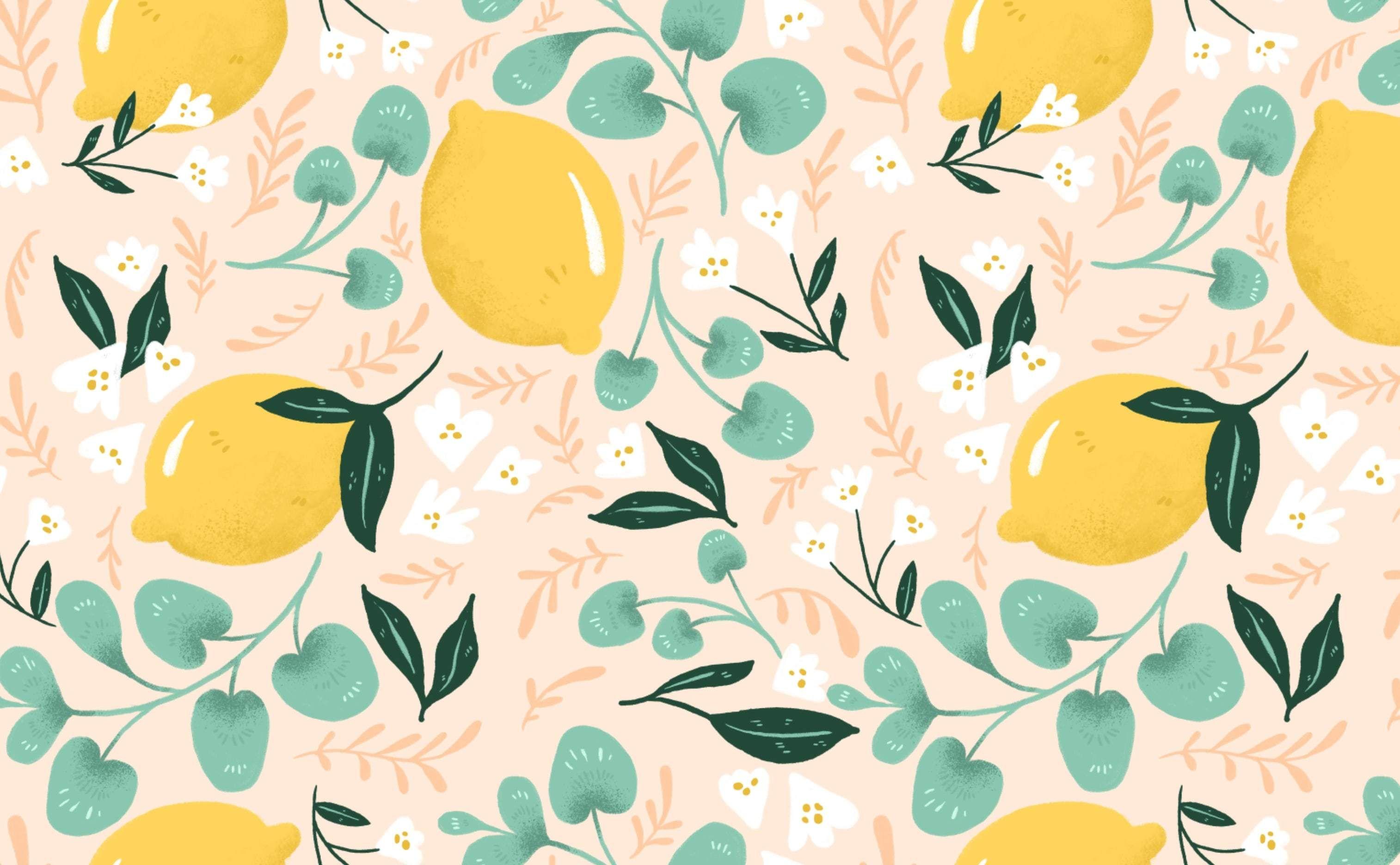 Lovely Lemons In 2020 Cute Desktop Wallpaper Computer Wallpaper Desktop Wallpapers Desktop Wallpaper Summer