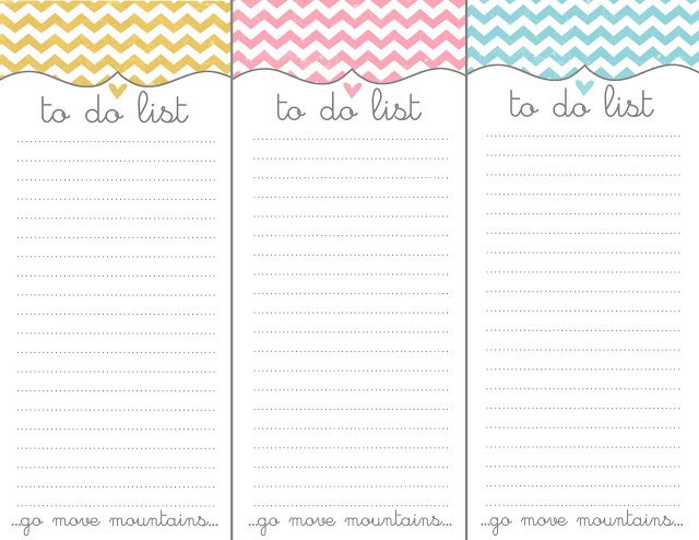 to do list free printable lots of space and perfect for when you