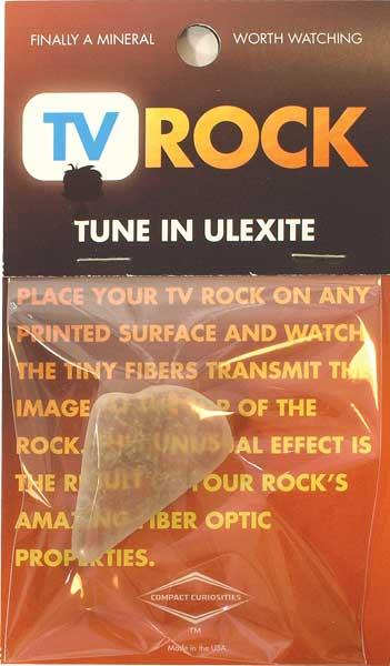 Ulexite TV Rock with Fiber Optic Capabilities