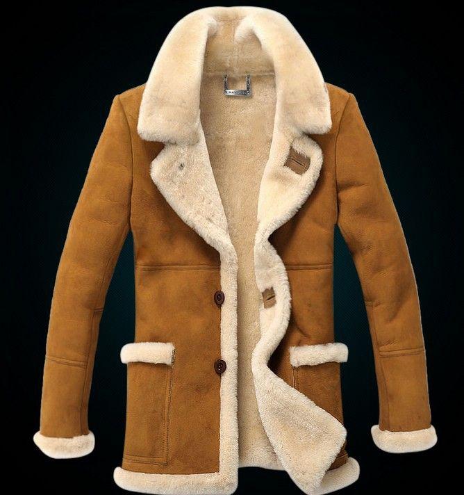 2014-Winter-Brand-Men-Genuine-Leather-Jacket-Fur-Coat-Long ...