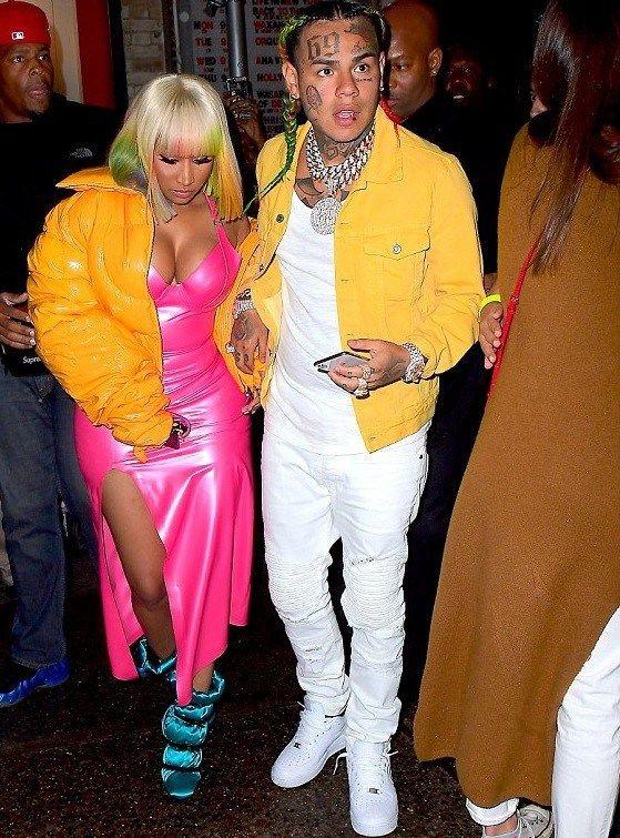 Nicki Minaj and rapper Tekashi 6ix9ine step out in ...