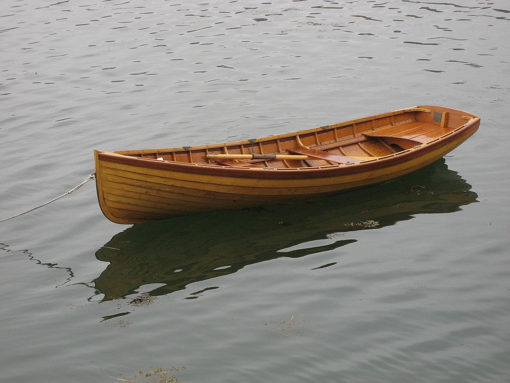 Small Wooden Boats Rowing Boat Built From Wood In The