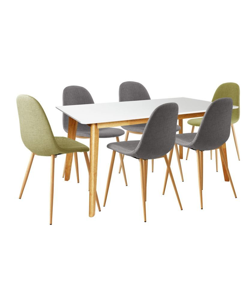 Buy Hygena Beni Dining Table With 2 Green 4 Grey Chairs At Argosco