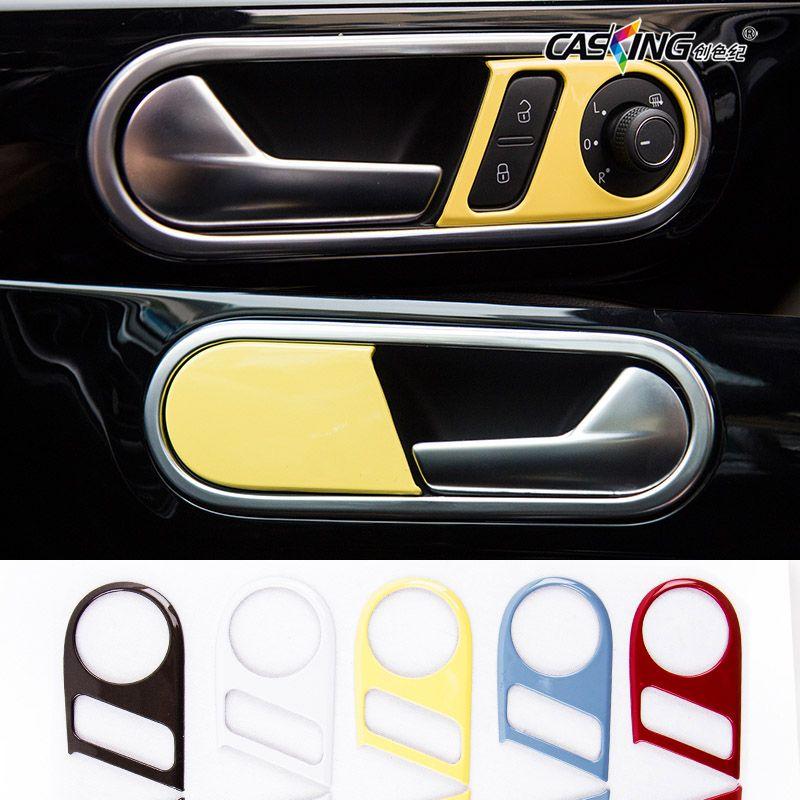Car Interior Door Handle Trim Chrome Decors Stickers Door Handle