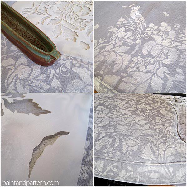 Como pintar con chalk paint y estencil ideas pinterest - Pintar chalk paint ...