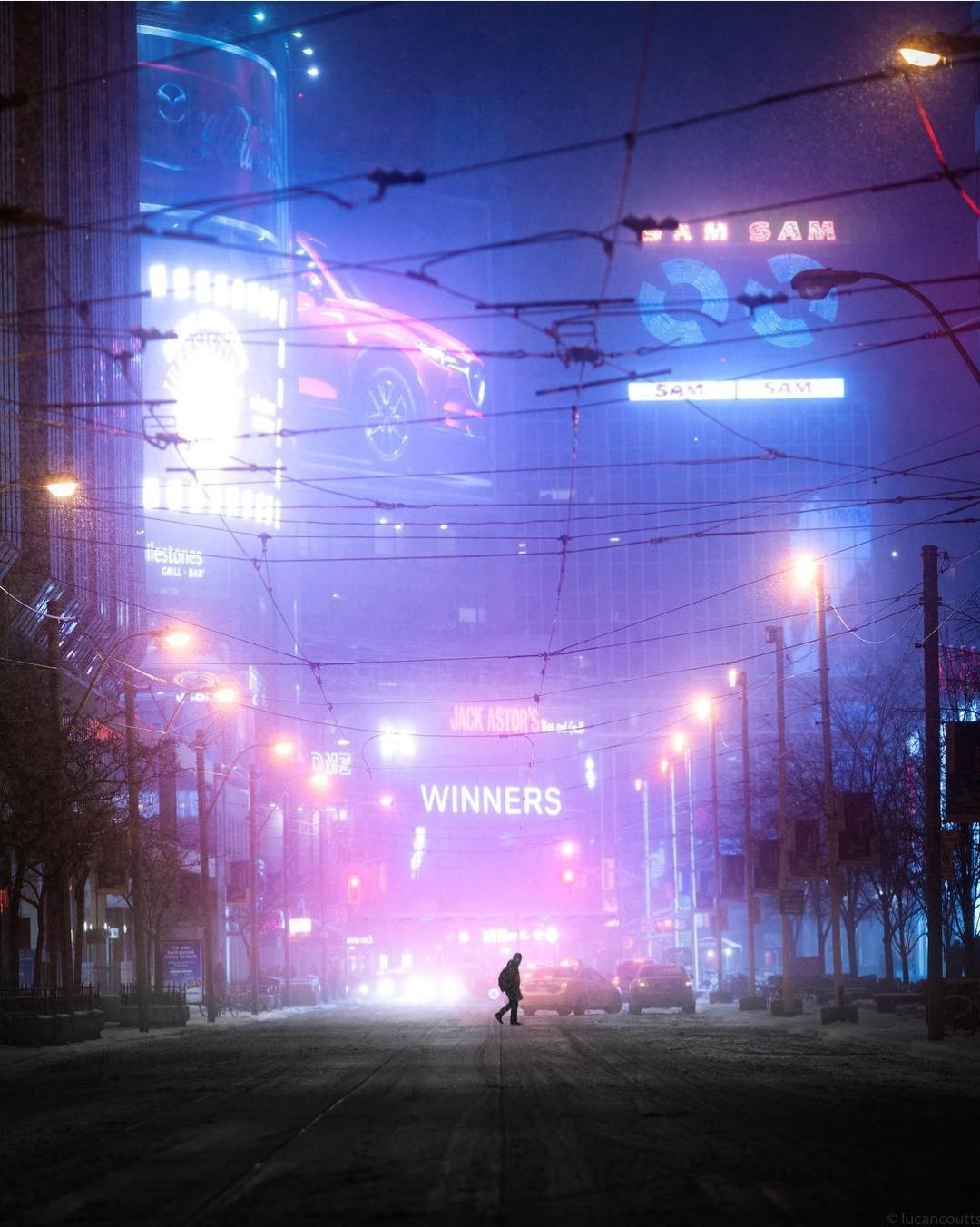 This street of Toronto looks like a set of blade runner  | Cyberpunk