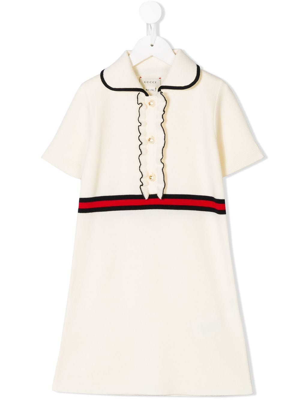 d350fc0c7 Gucci Kids web detail knitted dress - White in 2019 | Products ...