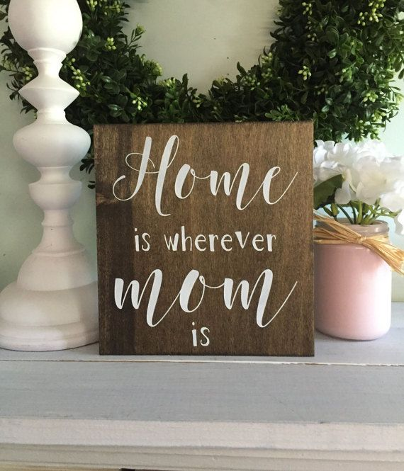 Home Is Wherever Mom Is Mothers Day Gift For Mom Present For