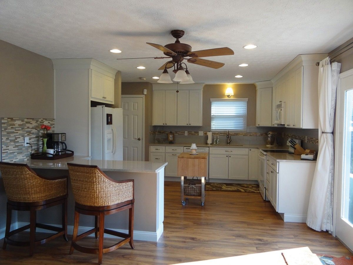 #7 AFTER Dublin Ohio Kitchen Renovation Features CliqStudios Dayton Painted  White Cabinets