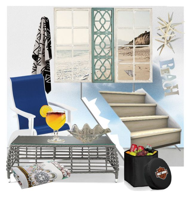 """SCALE OF A BEACH HOUSE"" by din-sesantadue ❤ liked on Polyvore featuring interior, interiors, interior design, home, home decor, interior decorating, DOMESTIC, Pier 1 Imports, Ballard Designs and Telescope Casual"