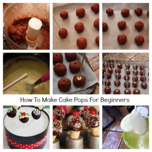 How To Make Cake Pops For Beginners Delish Pinterest Cake Pop