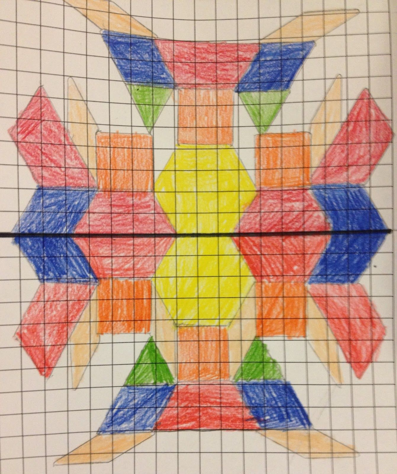 I Gave The Children Some Grid Paper And Pattern Blocks