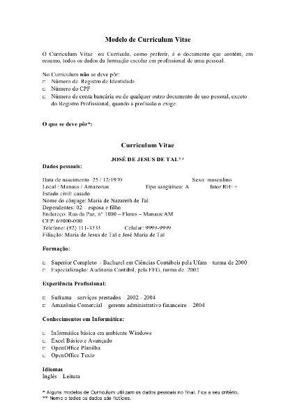 Modelos de Currículos 2016 Prontos Inscrições 2016 Negras - resume templates free download doc