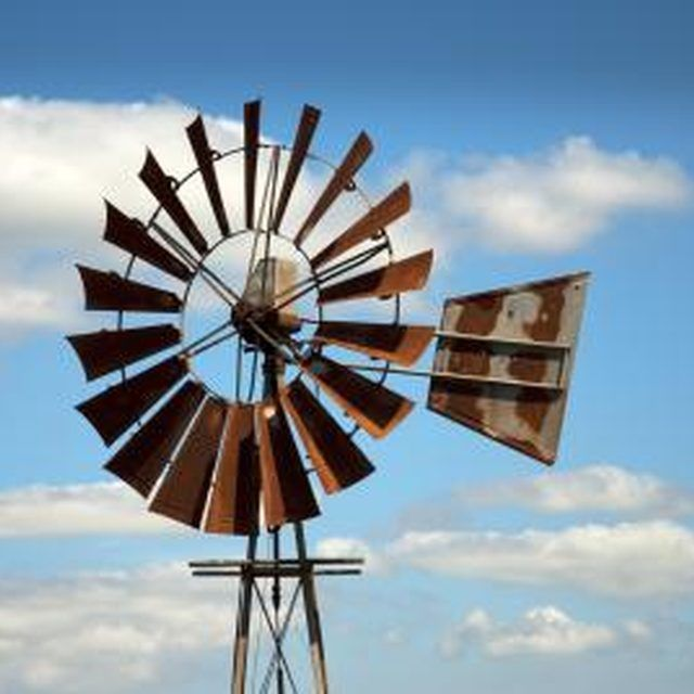 To catch the most wind, locate your windmill away from buildings and trees.