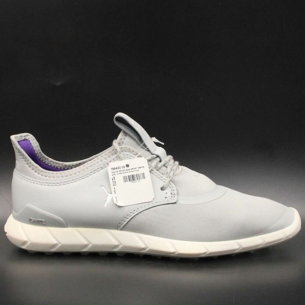 10c2a8e9f76d PUMA Ignite Spikeless Sport Women Spikeless Golf Shoes Size 7 Gray 189422-02