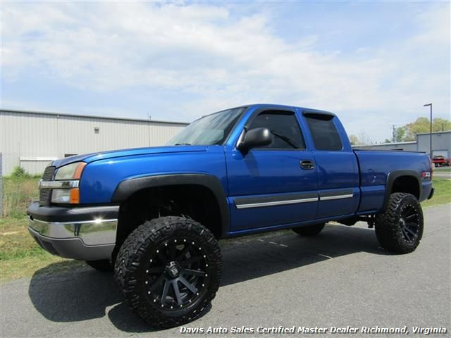 2004 chevrolet silverado 1500 ls z71 lifted 4x4 extended cab short bed for sale in richmond va. Black Bedroom Furniture Sets. Home Design Ideas