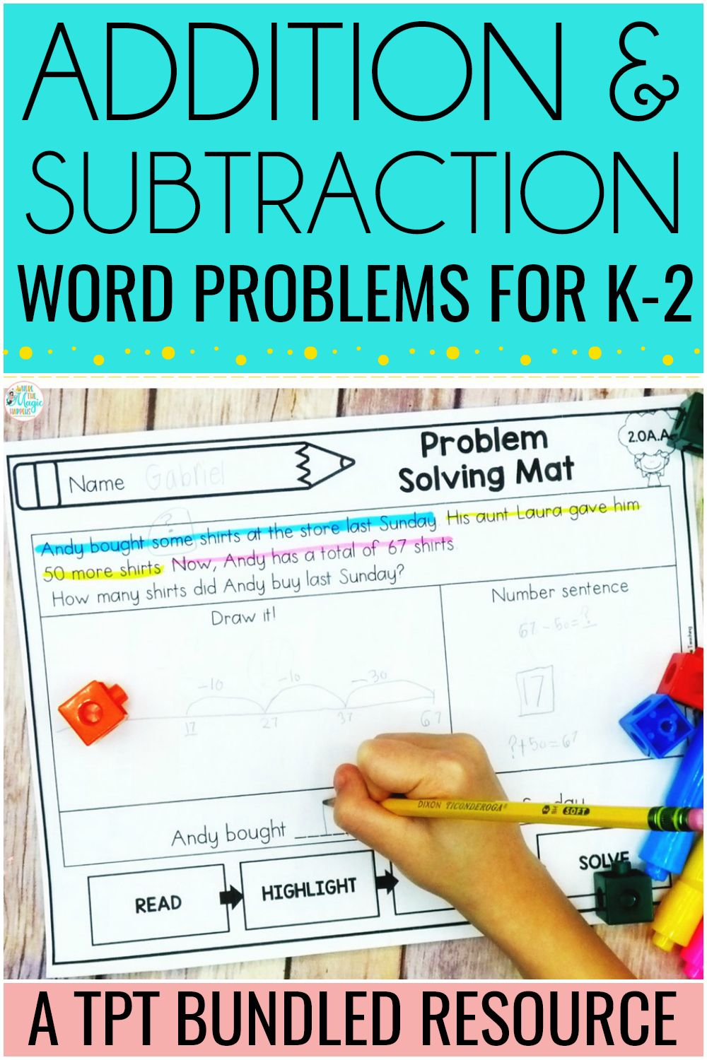Addition And Subtraction Word Problems For K 2 Subtraction Word Problems Word Problems Math Word Problems