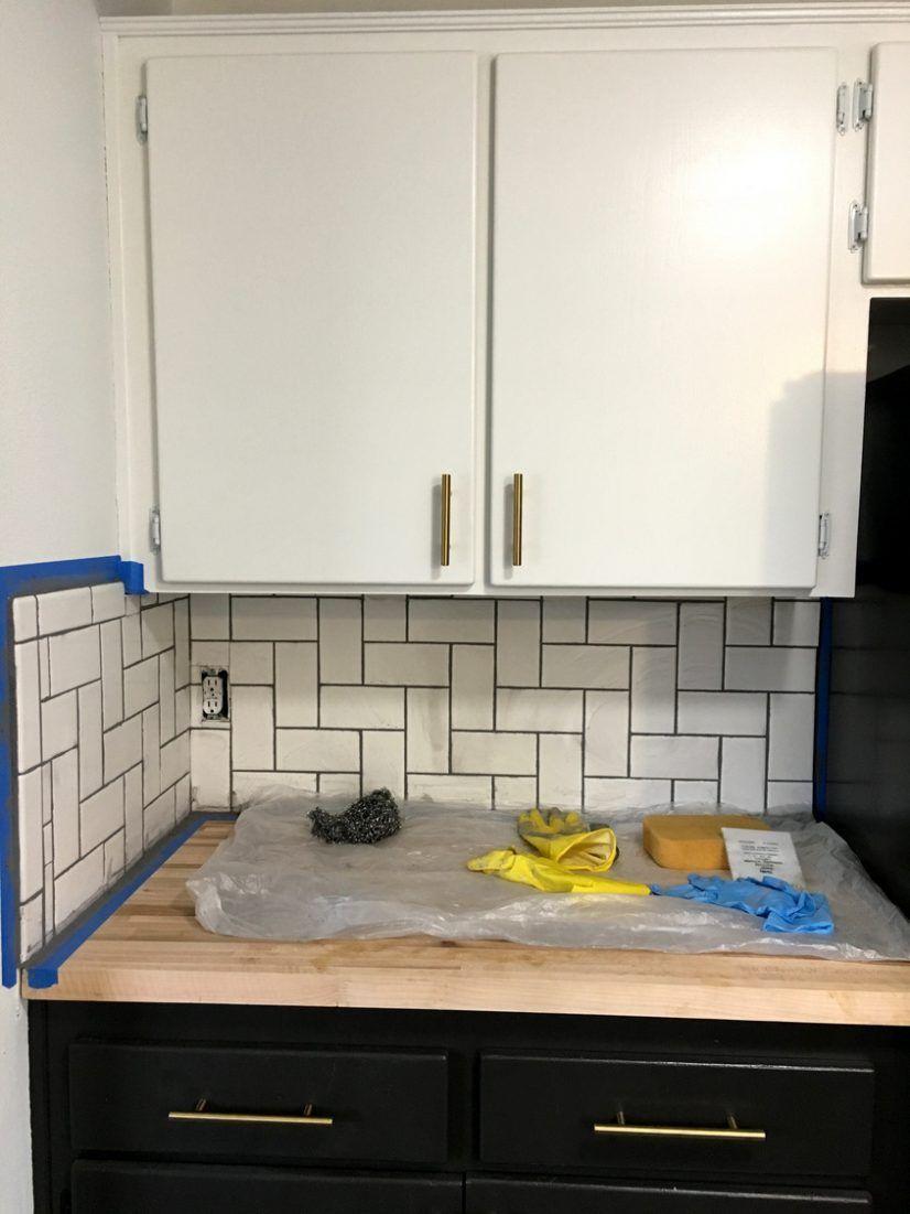 Backsplashes White Subway Tile Herringbone Backsplash Kitchen Wall