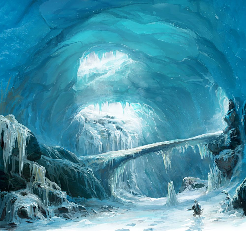 Ice cave Omri and Wruk's (the wolf) home || CHARACTER ...