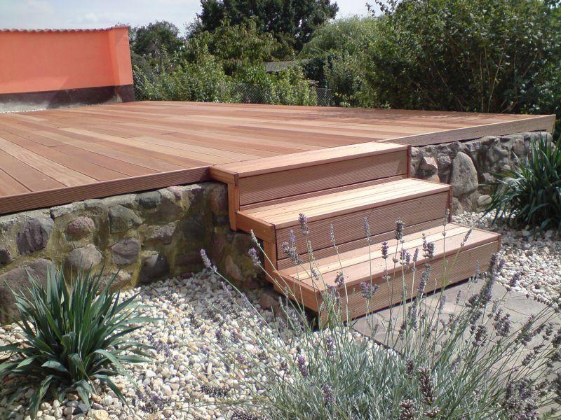 Grosse Holzterrasse mit Treppe.JPG (800×600) | Terrasse | Pinterest ...